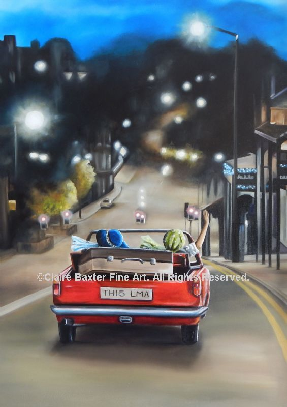 Thelma And Louise Card Claire Baxter Fine Art
